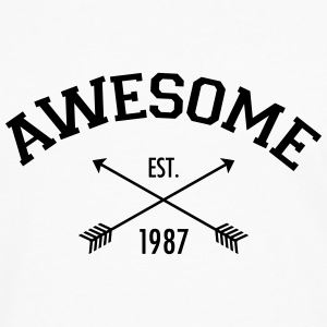 Awesome Est 1987 T-Shirts - Men's Premium Longsleeve Shirt