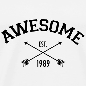 Awesome Est 1989 Toppe - Herre premium T-shirt