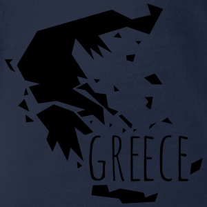 greece T-Shirts - Baby Bio-Kurzarm-Body