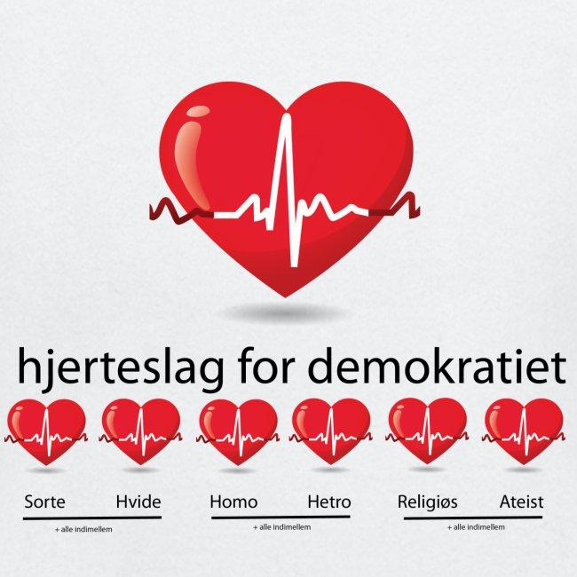 Mens tshirt with hjerteslag for demokrati
