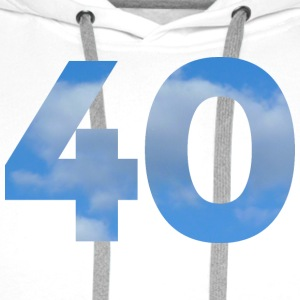 Number 40 Birthday Design with Heaven and Clouds T-Shirts - Men's Premium Hoodie