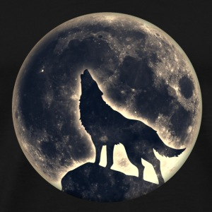 Wolf full moon, wolves, native, Indians, wild, dog Bags & Backpacks - Men's Premium T-Shirt