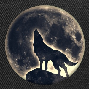 Wolf full moon, wolves, native, Indians, wild, dog Bags & Backpacks - Snapback Cap