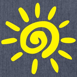 sun summer simple T-shirts - Schoudertas van gerecycled materiaal
