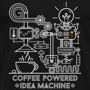 Noir Coffee powered Idea Machine Débardeurs - T-shirt Premium Homme