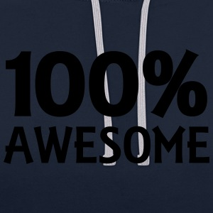 100% Awesome Débardeurs - Sweat-shirt contraste