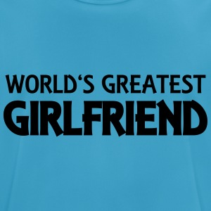 World's greatest girlfriend Tops - mannen T-shirt ademend