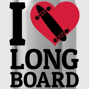 I love Longboard Hoodies & Sweatshirts - Water Bottle