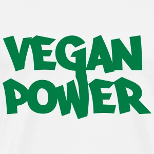Vegan Power Long Sleeve Shirts - Men's Premium T-Shirt