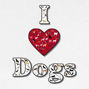 I love dogs 2 T-shirts - Baseballkasket