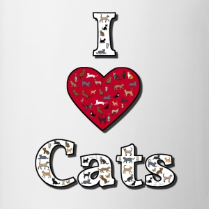 I love cats 2 Skjorter - Kopp