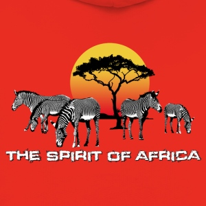 Männer T-Shirt The Spirit of Africa Zebras Sonne - Kinder Premium Hoodie