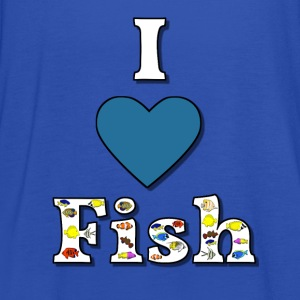 I love fish 1 Shirts - Women's Tank Top by Bella