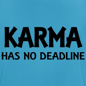 Karma has no deadline Tops - mannen T-shirt ademend