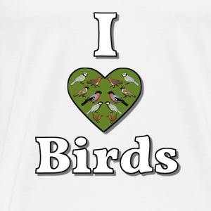 I love birds Tops - Mannen Premium T-shirt