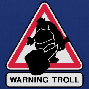 warning troll Tee shirts - Tote Bag