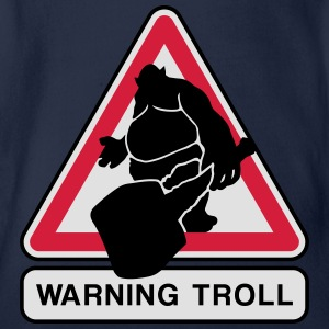 warning troll Shirts - Organic Short-sleeved Baby Bodysuit