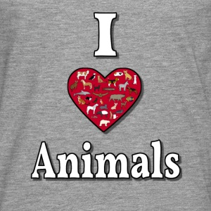 I love animals Topper - Premium langermet T-skjorte for menn