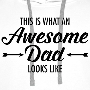 This Is What AN Awesome Dad Looks Like T-shirts - Premiumluvtröja herr