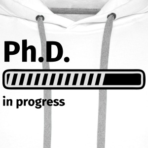 Ph.D. progress bar Magliette - Felpa con cappuccio premium da uomo