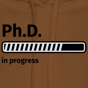 Ph.D. progress bar Tee shirts - Sweat-shirt à capuche Premium pour femmes