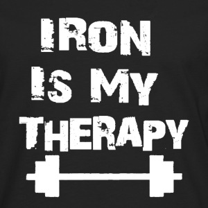 Iron Is My Therapy - T-shirt manches longues Premium Homme