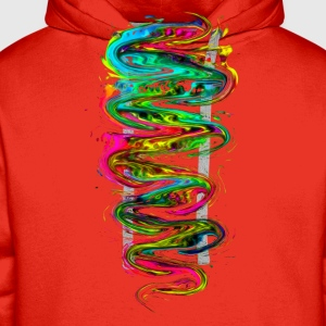 Color your life! Rainbow, Music, Trance, Techno, Goa Långärmade T-shirts - Premiumluvtröja herr