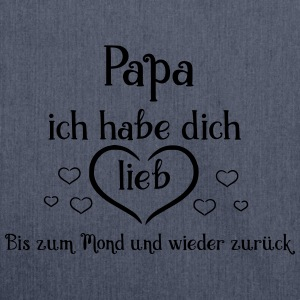 Papa ich habe dich lieb ! - Schultertasche aus Recycling-Material