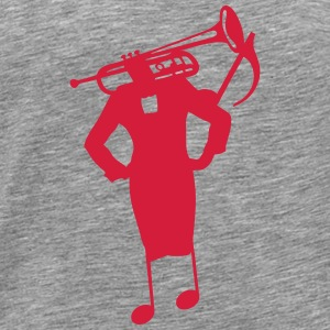 Character trumpet woman head tailor Tops - Men's Premium T-Shirt
