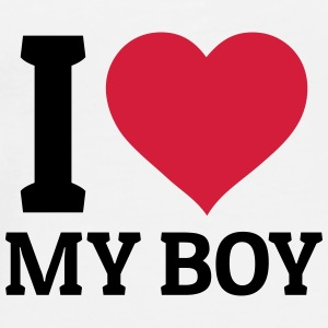 I love my Boy Mugs & Drinkware - Men's Premium T-Shirt