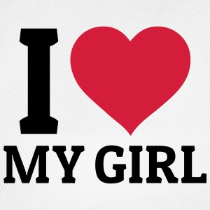 I love my Girl T-Shirts - Baseballkappe