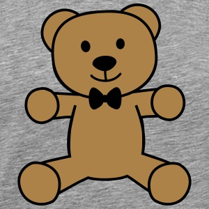 teddy bear with bow tie bamse med butterfly Sweatshirts - Herre premium T-shirt