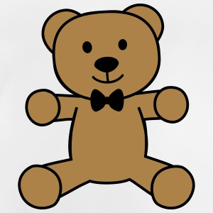 teddy bear with bow tie bamse med butterfly T-shirts - Baby T-shirt