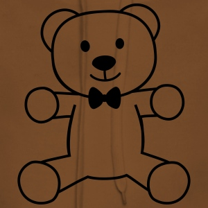 teddy bear with bow tie bamse med butterfly T-shirts - Dame Premium hættetrøje