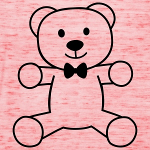 teddy bear with bow tie bamse med butterfly T-shirts - Dame tanktop fra Bella