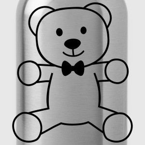 teddy bear with bow tie teddybeer met strikje T-shirts - Drinkfles