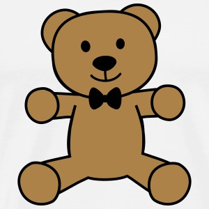 teddy bear with bow tie bamse med butterfly Langærmede shirts - Herre premium T-shirt