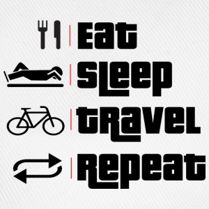 eat.sleep.travel.repeat. Sportbekleidung - Baseballkappe