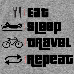 eat.sleep.travel.repeat. Sportbekleidung - Männer Premium T-Shirt