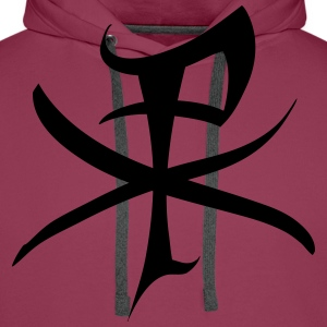 Christ monogram T-Shirts - Men's Premium Hoodie