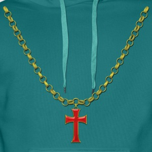 cross Necklace T-Shirts - Men's Premium Hoodie