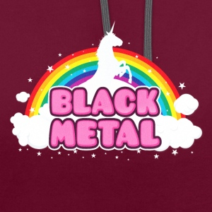 BLACK METAL - Funny / Unicorn - Rainbow - parodie Sacs et sacs à dos - Sweat-shirt contraste