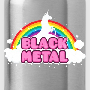 BLACK METAL - Funny / Unicorn - Rainbow - parodie Camisetas - Cantimplora