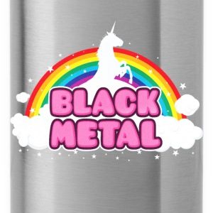 BLACK METAL - Funny / Unicorn - Rainbow - parodie Borse & zaini - Borraccia