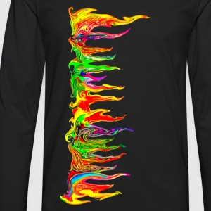 Color your life! colour, music, holi festival, goa Camisetas - Camiseta de manga larga premium hombre