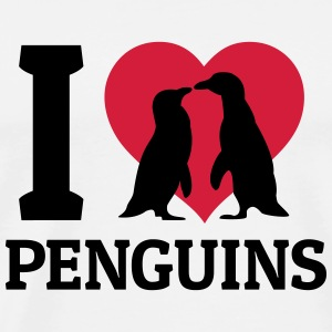 I love Penguins Pullover & Hoodies - Männer Premium T-Shirt