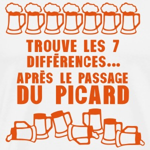 7 difference apres passage picard biere Tabliers - T-shirt Premium Homme