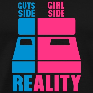 Bed side guys grill side reality Sports wear - Men's Premium T-Shirt