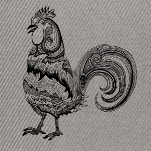 Donkergrijs rooster drawing Sweaters - Snapback cap