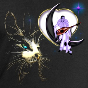 Pierrot la Lune et Chat - Sweat-shirt Homme Stanley & Stella